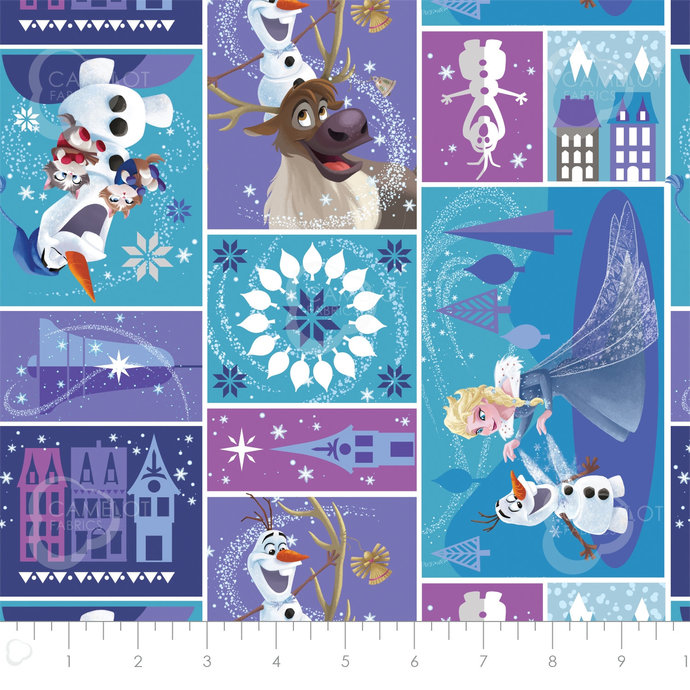 Licensed Frozen Characters in block in multi - Part of the Olaf's Frozen
