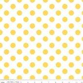 Medium Chevon Dots in yellow 1 yard