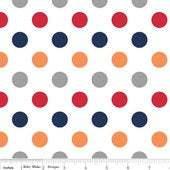 Medium Chevon Dots in Boy 1/2 yard