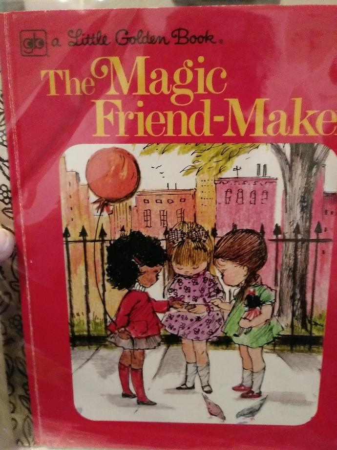 """""""MAGIC FRIEND MAKER"""" Little Golden Book"""