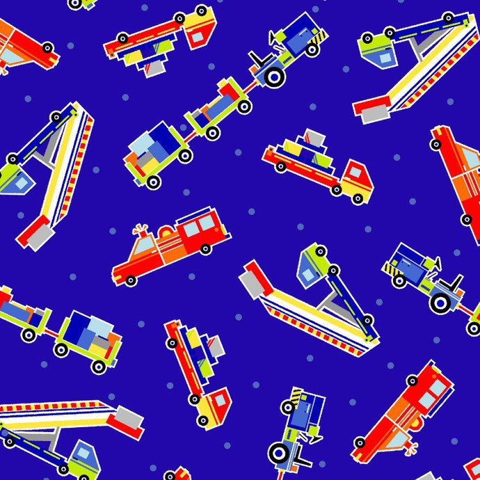Air Show Transportation Fabrics in Blue from First Blush Studio - You choose the