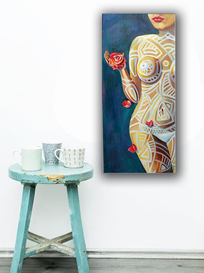 Nude Woman oil Painting Naked Woman Erotic art Gift original art work paintings