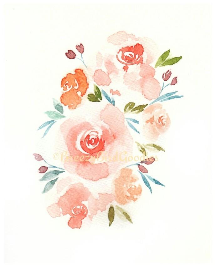 Custom Floral Painting