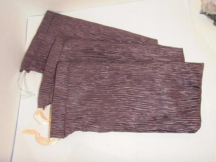 Purple Gift Bags- drawstring SET of 3