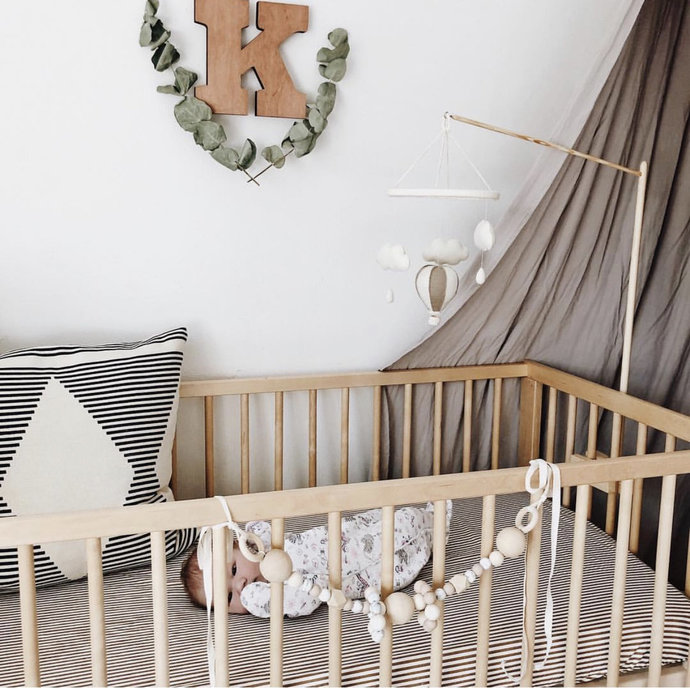 Wood mobile arm for baby mobile - Crib mobile hanger - Mobile attachment for