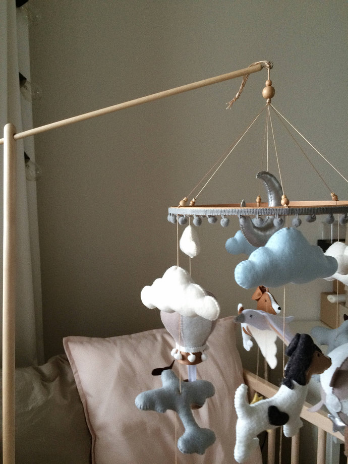 Wooden Mobile Hanger, Crib Mobile Arm, Nursery Accessories by Avladova Wood