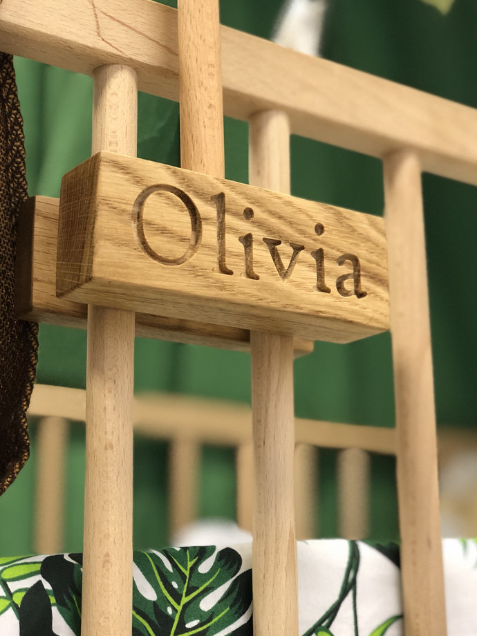 Personalized Mobile Hanger - Wood Custom Mobile Arm - Hanging Mobile Arm - Baby