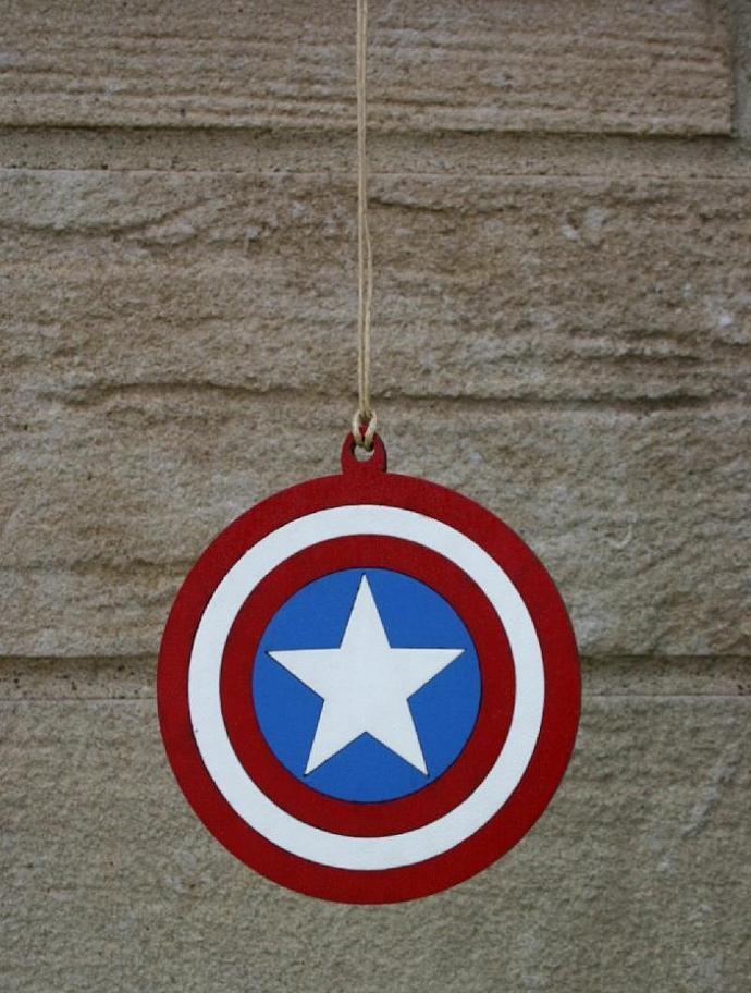 Captain America Shield Ornament