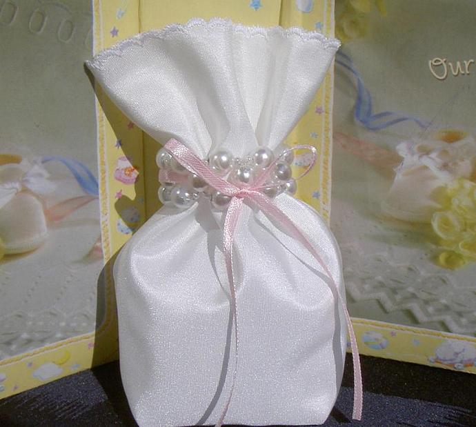 Baby Girl Shower Favor Bag