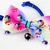 Oversized Unicorn Print Bow Tie, Cat Accessories, Dog Attire, Slide-on, Rainbow