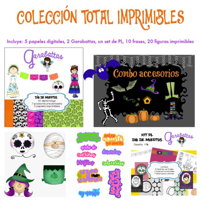 COLECCION TOTAL IMPRIMIBLES DIA DE MUERTOS/HALLOWEEN