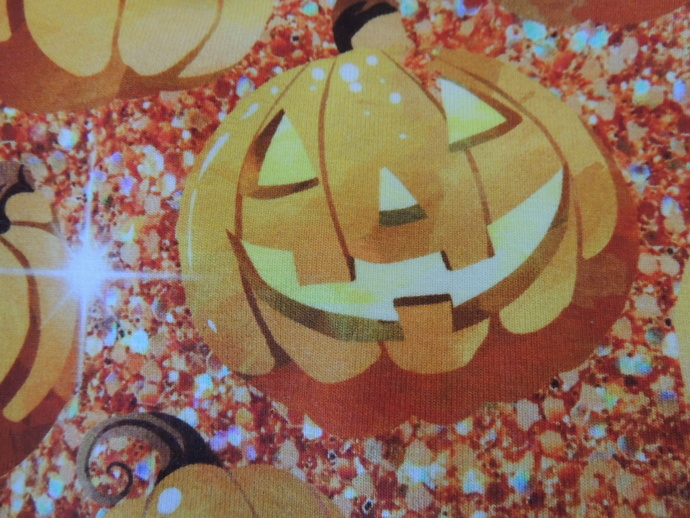LARGE Glowing Pumpkins with glittery accents