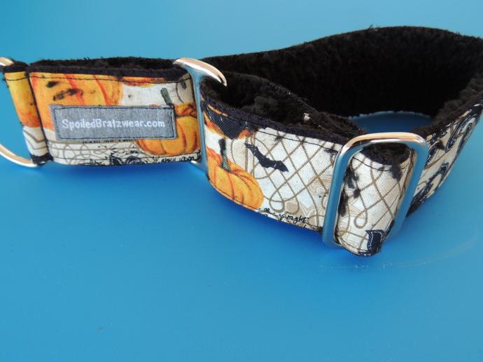 "MEDIUM Halloween Softie Slip Wide Dog Collar 12-14"""
