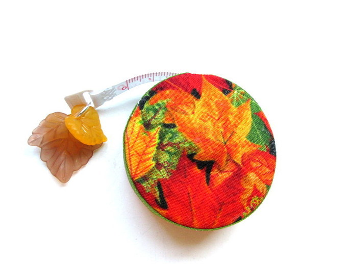 Retractable Tape Measure Fall Orange Leaves Small Measuring Tape