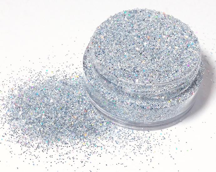 Unicorns Silver - Loose Silver Iridescent, holographic and Metallic Fine Glitter