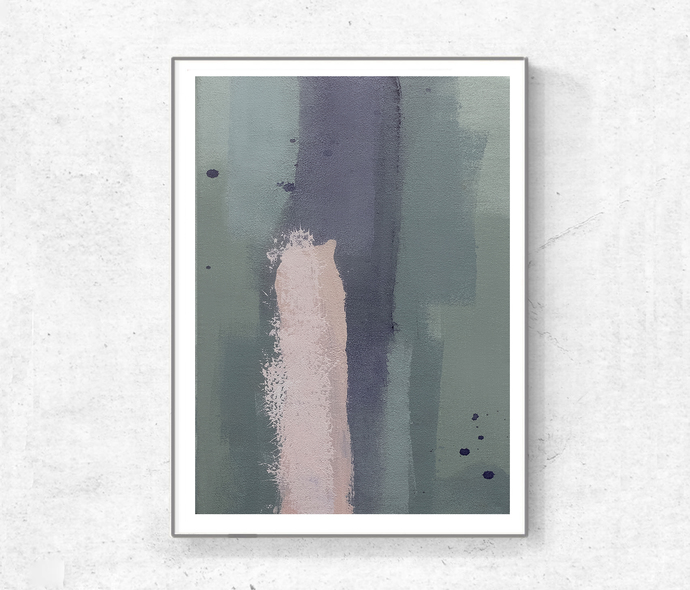 Mint & Violet Triptych Wall Art, Set of 3 Prints, mint beige, Digital Download,