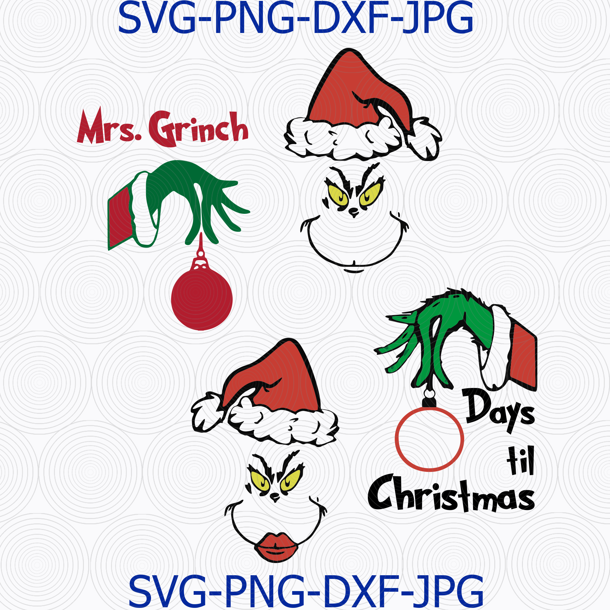 Download The Grinch svg, Mrs Grinch svg, The Grinch Cameo by ...