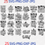 Halloween Bundle 25 Quotes Design Svg Png Cut File, Halloween Party Svg,