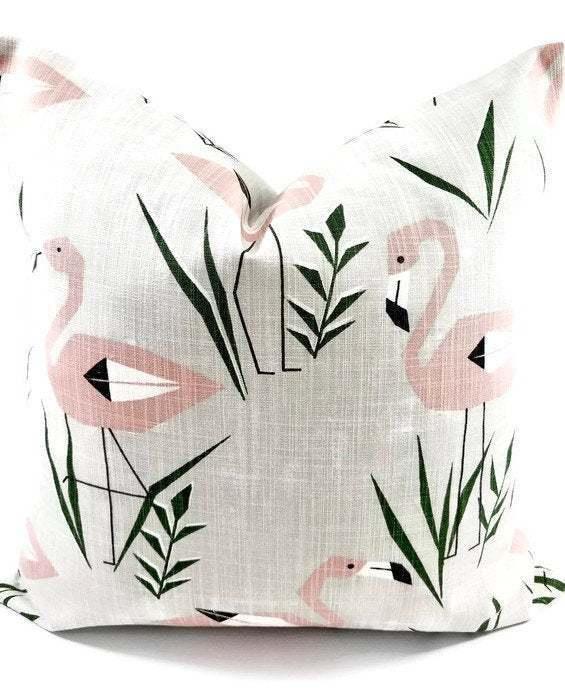Ringo  Blush Pink pillow cover. Blush pink & grey Ringo  Print.  Sofa Pillow