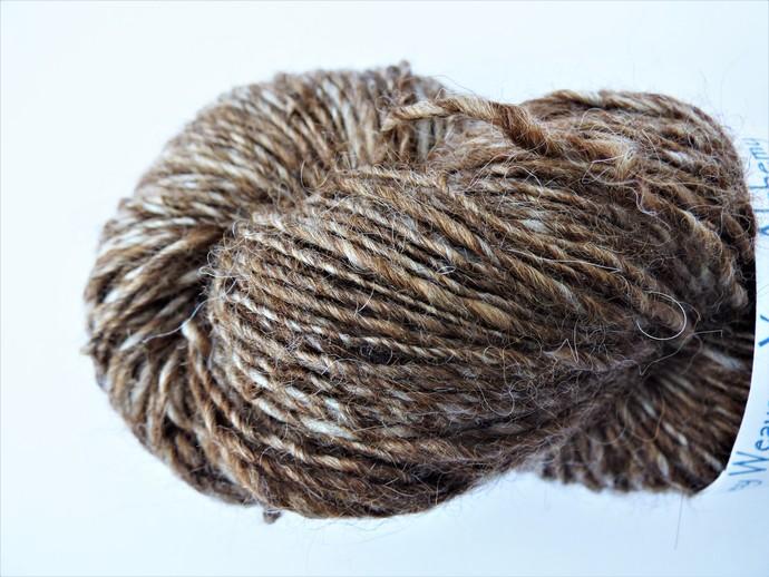 Handspun Yarn – 75/25% Organic Merino Wool and Alpaca – Sport Weight – Blend of