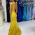 Hollow Mermaid Prom Dresses Criss Cross Neck Sweep Train Draped Long Formal