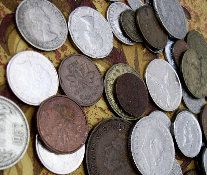 Seven Vintage and Antique Coins For Your Art ... Or A Coffee in Denmark