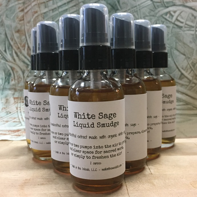 Handcrafted White Sage Liquid Smudge