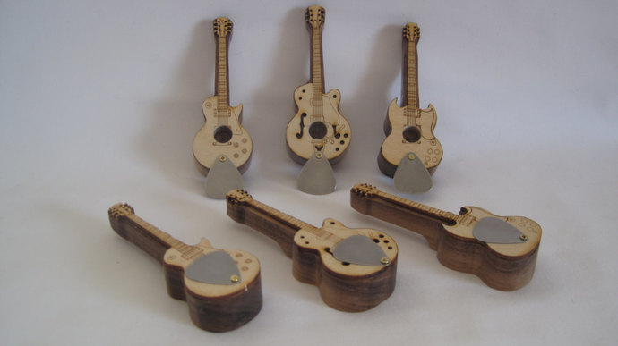 Electric Guitar Pipes: SG, Les Paul, Gretsch & Telecaster; Gift for musician