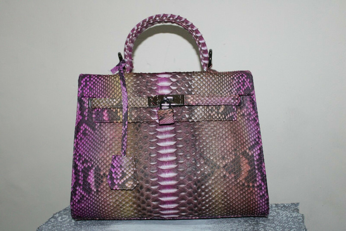 Women Python Leather Bag,Evening Tote Cross body Snake Skin Purse