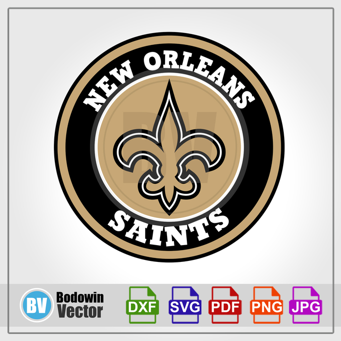 New Orleans Saints Svg Instant Download Digital Clipart Cutting Files Cricut Silhouette Cameo Svg Dxf Png Jpg Pdf