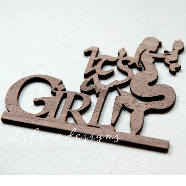Baby Boy or Girl Mermaid Baby Shower Laser Cut Sign or Topper