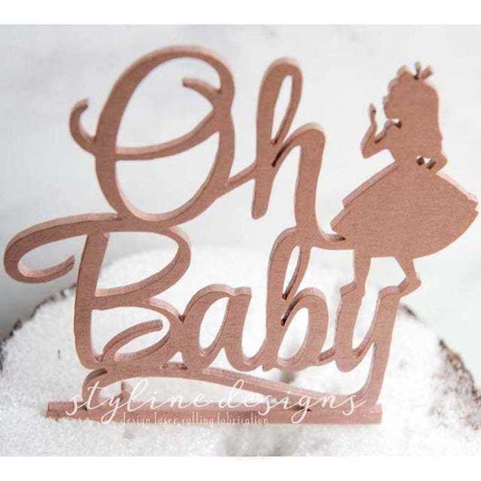 Oh Baby Shower Laser Cut Sign or Topper