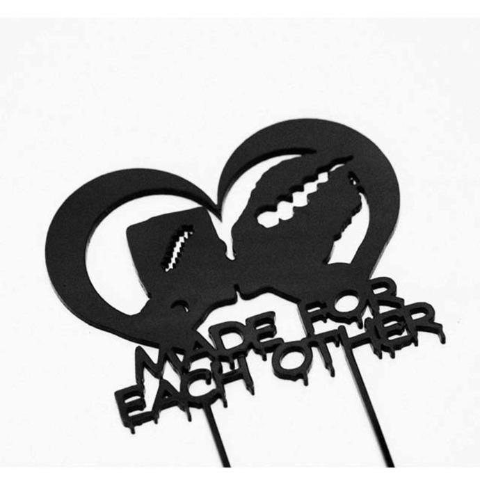 Made for Each OTher Halloween Wedding Laser Cut Sign or Topper