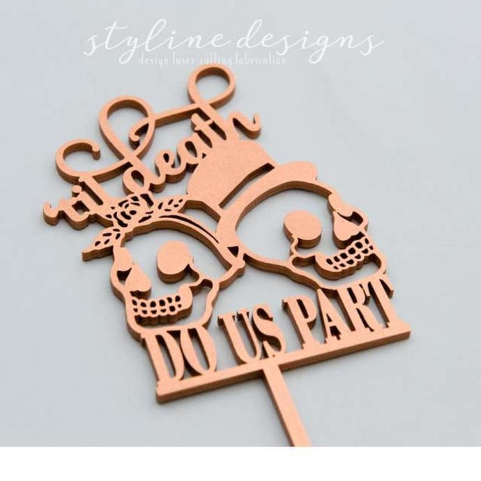 Sugar Skulls Halloween Wedding Laser Cut Sign or Topper