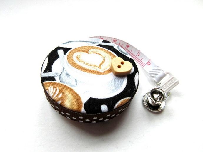 Small Measuring Tape Coffee Love Retractable Pocket Tape Measure