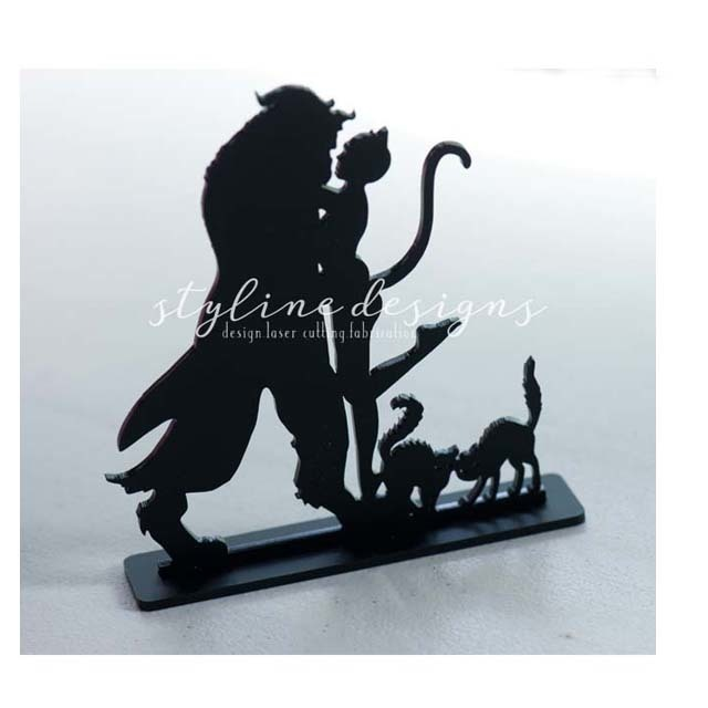 Beast and Catwoman Inspired Wedding Laser Cut Sign or Topper