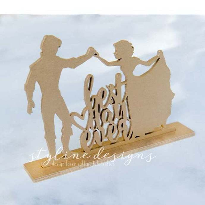 Best Day Ever Wedding Laser Cut Sign or Topper