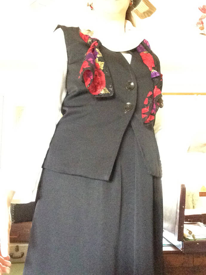 Ladies Vest and Skirt Suit