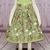 Owls Dress, Green Girl Dress, Summer Straps Dress, Owl Dress, Girl Sundress,