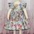 Girl Floral Dress, Flower Girl Dress, Girl Teal Dress, Purple Flower Dress, Pink