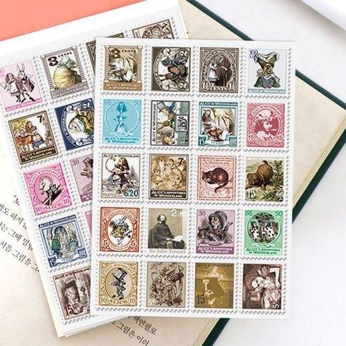 Alice In Wonderland Stamp  stickers