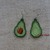 FSL jewelry avocado earrings Free Standing Lace Machine Embroidery design