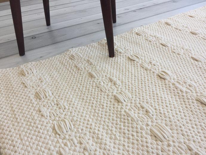 Scandinavian rug, white rugs, modern rag rug, kitchen rug, rugs runner, nursery