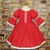 Red Polka Dots Lace Dress, Peasant Dress, Girl Red Dress, Spring Dress, Toddler
