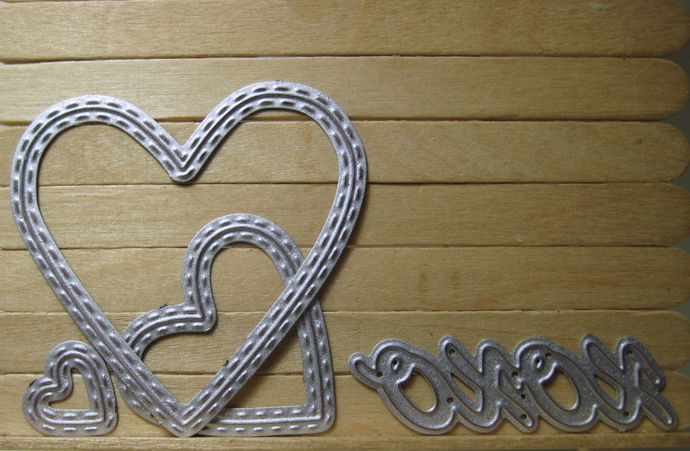 4pc Heart and XOXO Cutting Die Set