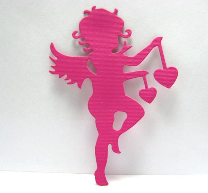 Cupid with Hearts Metal Cutting Die Valentines Love