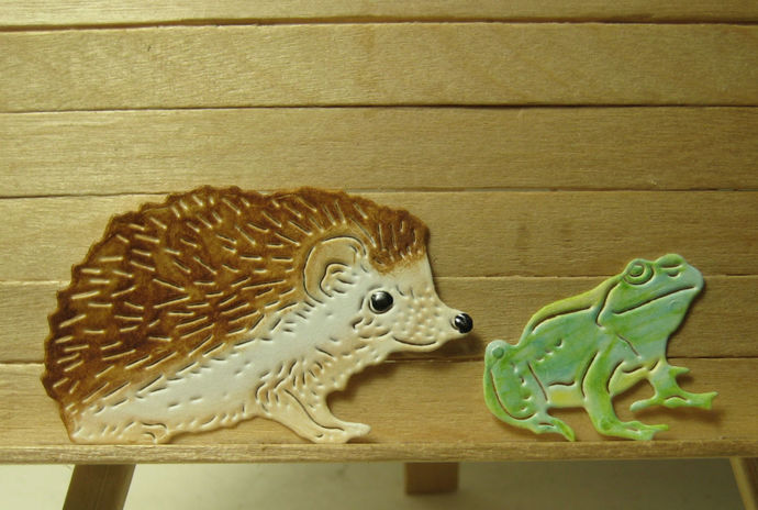 Two Friends Frog and Hedgehog Cutting Die Set LIMITED QUANTITY