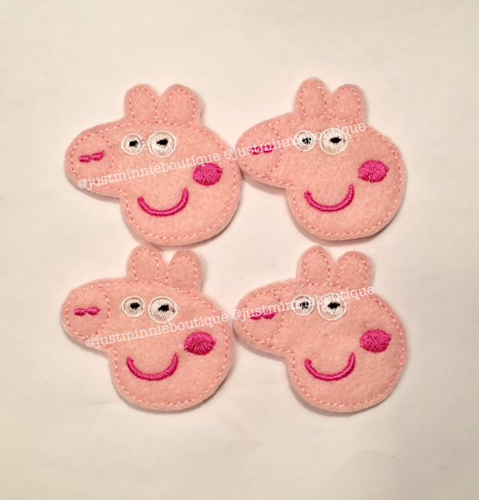 Peppa Pig Feltie 4 pc UNCUT