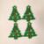 Mouse Christmas Tree Feltie 4 pc UNCUT