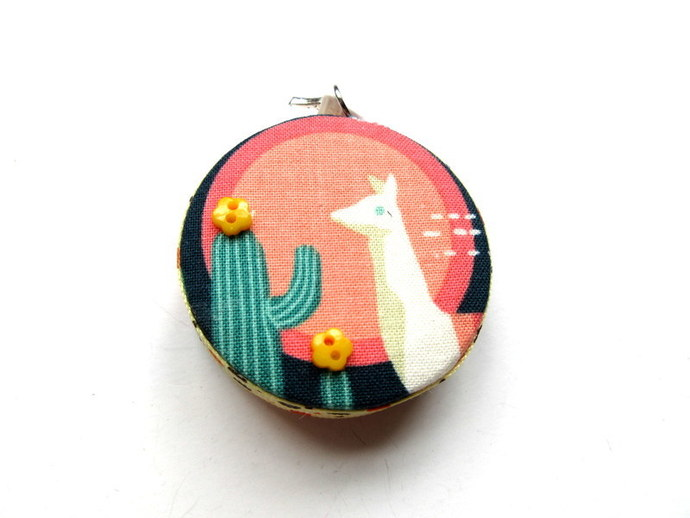 Tape Measure Llamas and Cactus in the Desert Retractable Measuring Tape